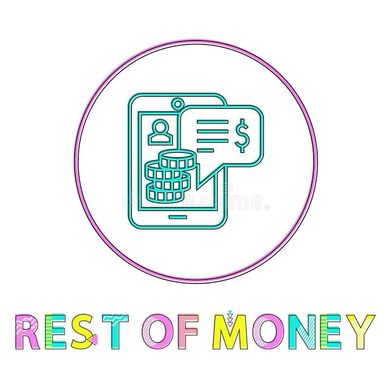 Resto dell'icona di vettore dei soldi nello stile lineare del profilo illustrazione vettoriale