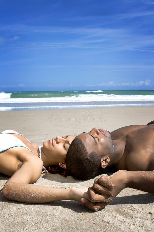 Resto della spiaggia immagini stock