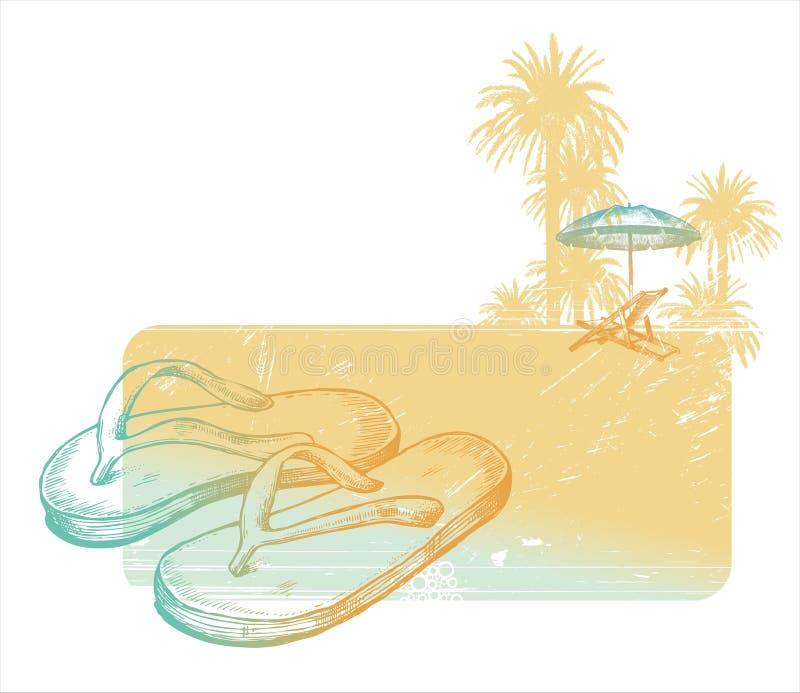 Resto en el mar ilustración del vector