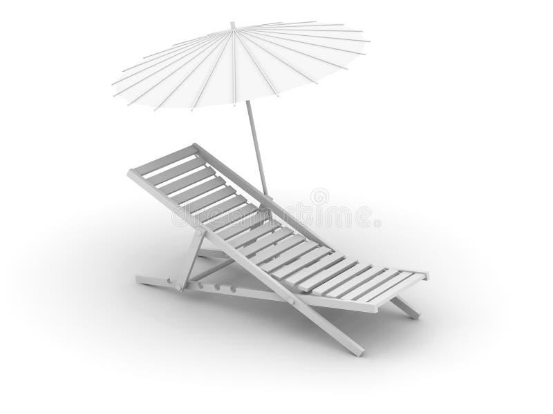 Resto - en una playa ilustración del vector