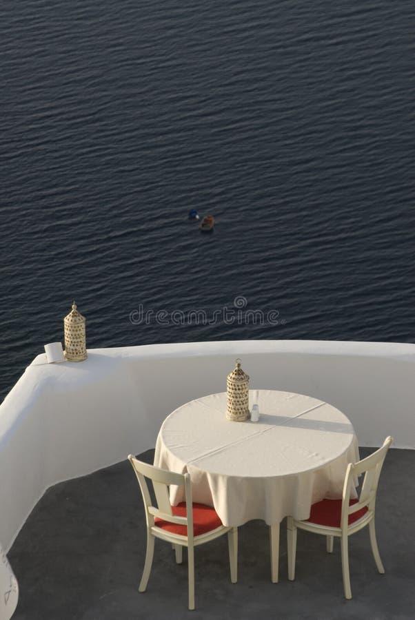 Resto increíble de la opinión de Santorini imágenes de archivo libres de regalías