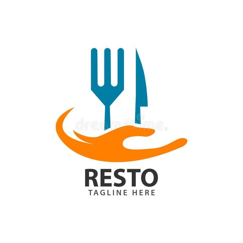 Resto logo szablonu projekta Wektorowa ilustracja royalty ilustracja