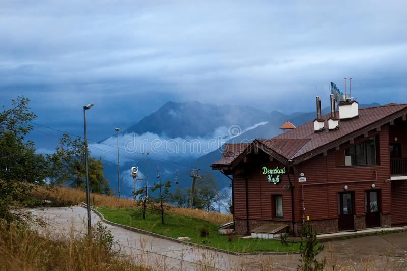 Resto nas montanhas 1º de setembro de 2017 Rússia Sochi rosa foto de stock royalty free