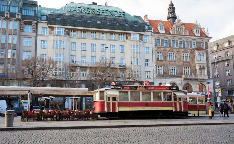 Restoran jako jak tramwaj na Wenceslas kwadracie zdjęcia stock