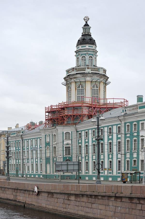Restoration of the building of the Kunstkammer stock image