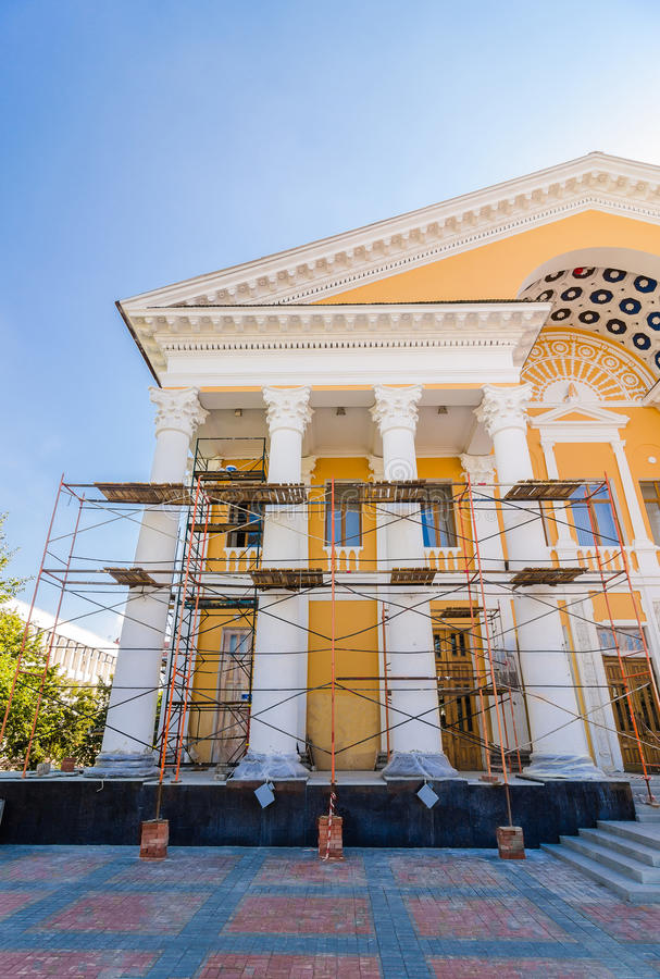 Restoration of old building royalty free stock image