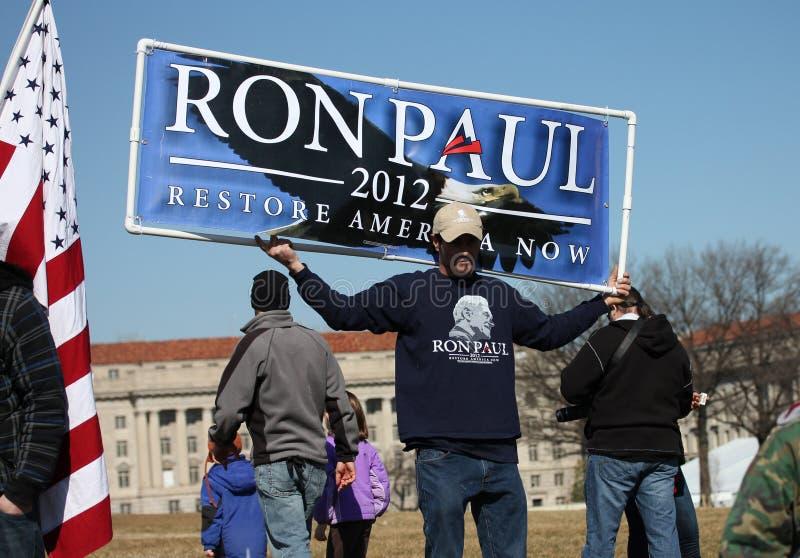 Restore América de Ron Paul 2012 ahora imágenes de archivo libres de regalías