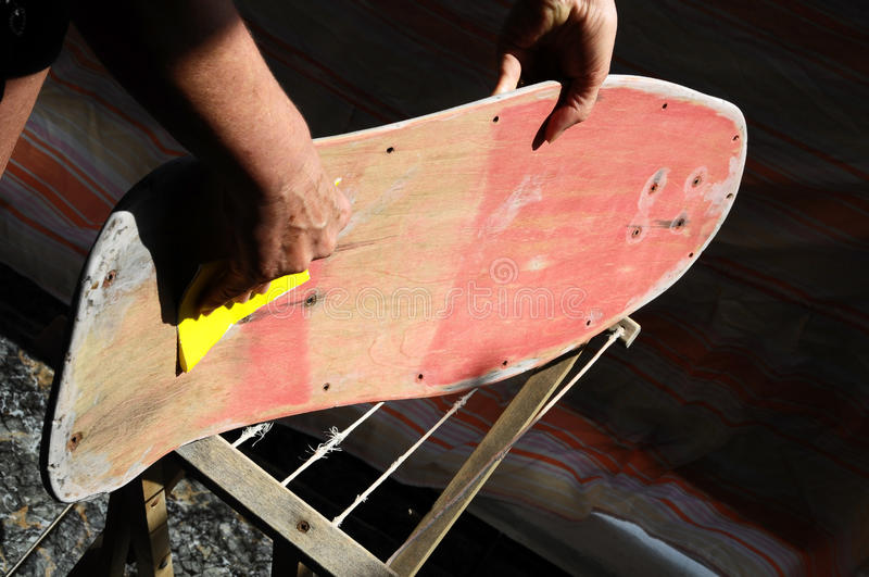 Download Restore an Old Skateboard stock image. Image of pattern - 33448763