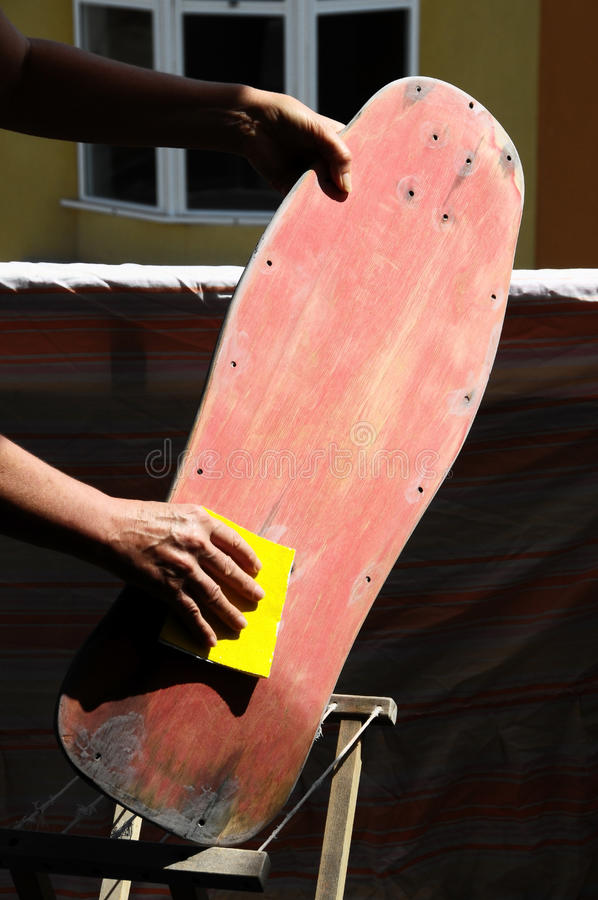 Restore An Old Skateboard Royalty Free Stock Images