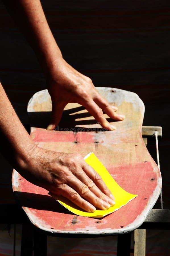 Download Restore an Old Skateboard stock photo. Image of sandpaper - 35742090