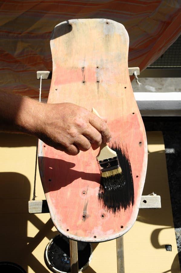 Download Restore An Old Vintage Skateboard Stock Image - Image: 33448953