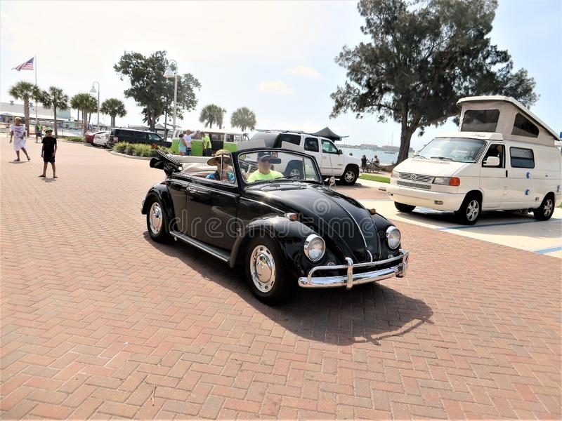 Classic VW Bug, Gulfport, Florida stock images