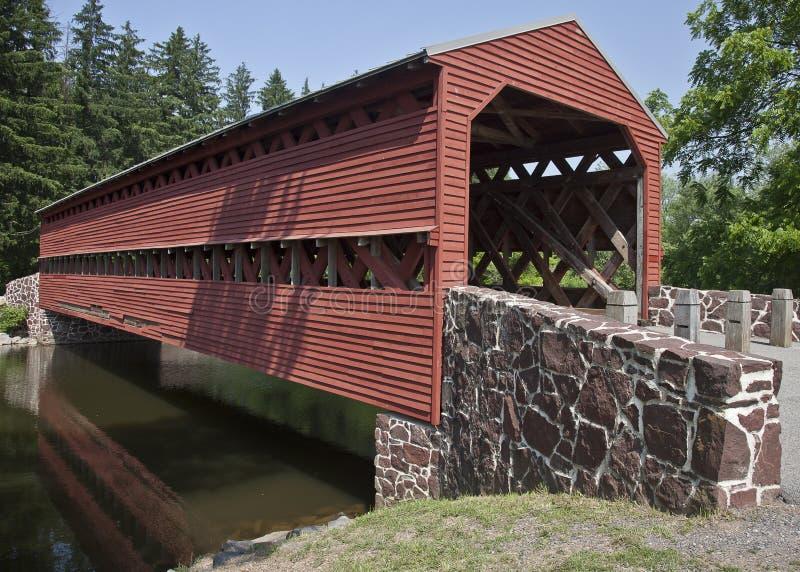 Restored Civil War-Era Cover Bridge Royalty Free Stock Photos
