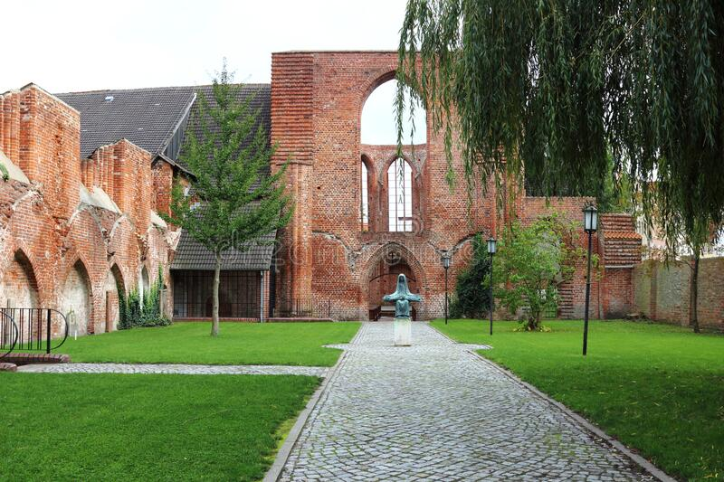 Johanniskloster and pieta in Stralsund, Germany royalty free stock image