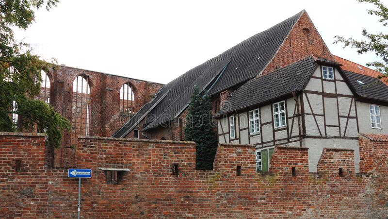 Johanniskloster, historic building in Stralsund, Germany royalty free stock photos