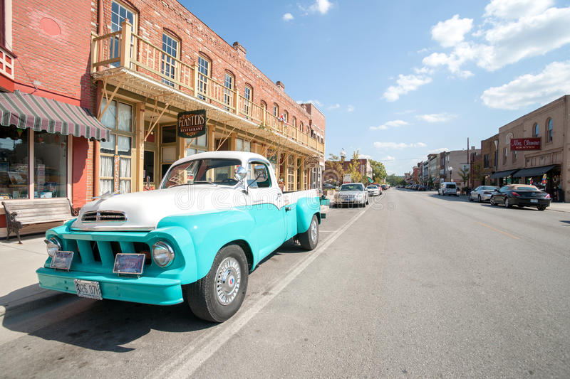 restored studebaker truck in main street hannibal missouri usa editorial stock photo image. Black Bedroom Furniture Sets. Home Design Ideas