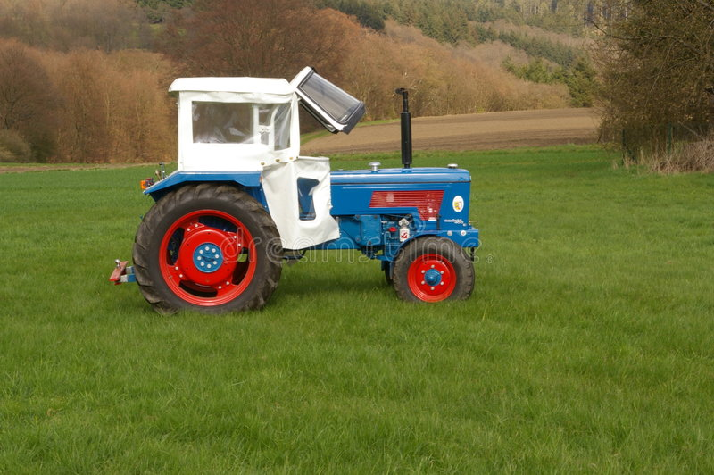 Download Restored Tractors stock image. Image of presentation, lawn - 7707825