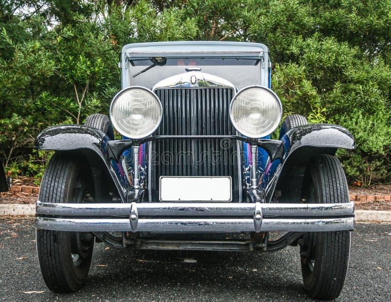 Restored Vintage Gangster Car Stock Image - Image of classic, front ...