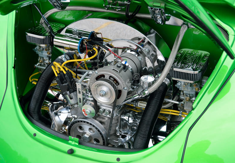 Restored Volkswagen Beetle Engine