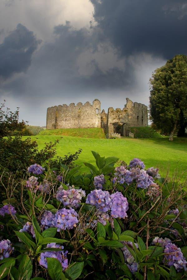 restormel för slottcornwall england lostwithiel royaltyfri foto