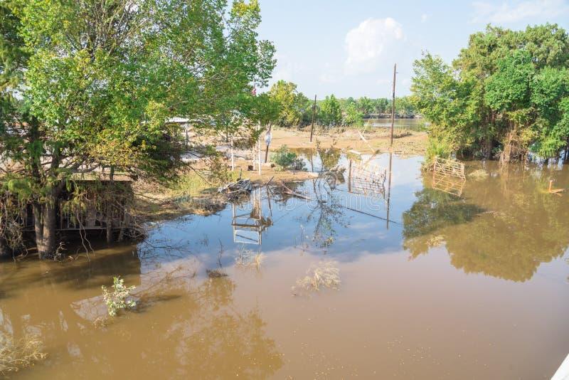 Restos da inundação fotos de stock royalty free