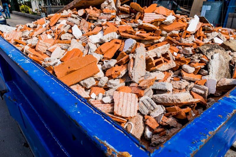 Restos de construção no local fotos de stock royalty free