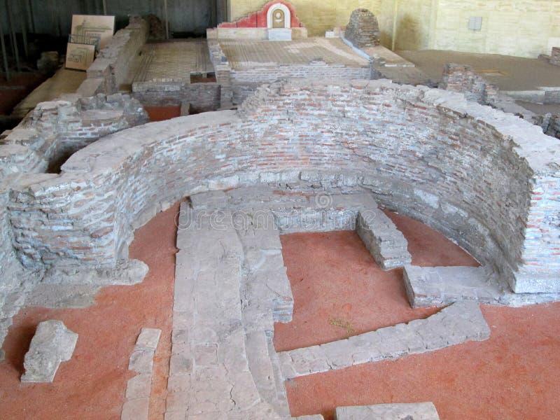 Restos de la ciudad romana vieja Sirmium, Sremska Mitrovica, Serbia fotografía de archivo libre de regalías