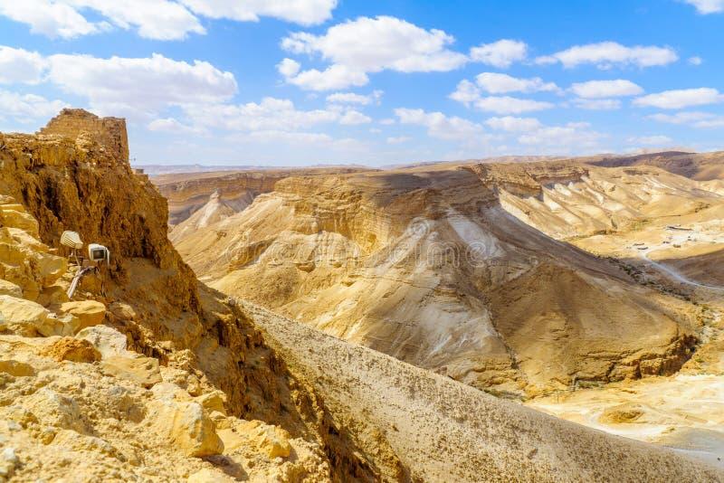 Restos de la fortaleza de Masada foto de archivo