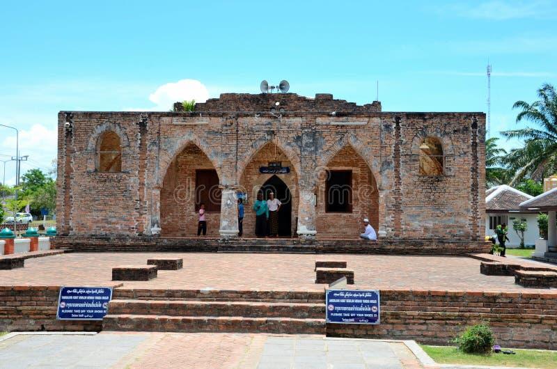 Restos de la mezquita del siglo XVIII Pattani Tailandia del SE de Krue foto de archivo libre de regalías