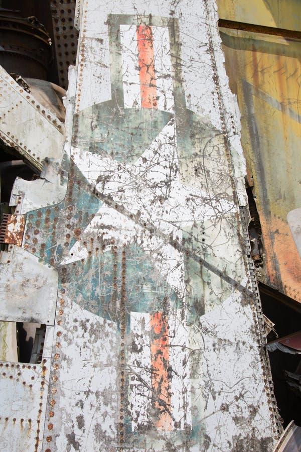 Restos del aeroplano fotografía de archivo libre de regalías
