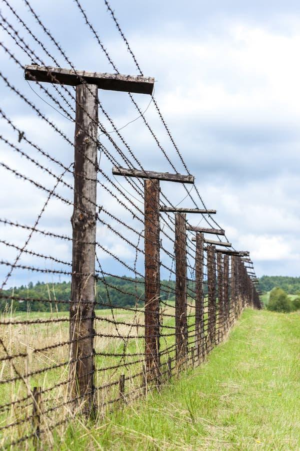 restos del telón de acero, Cizov, República Checa fotos de archivo libres de regalías