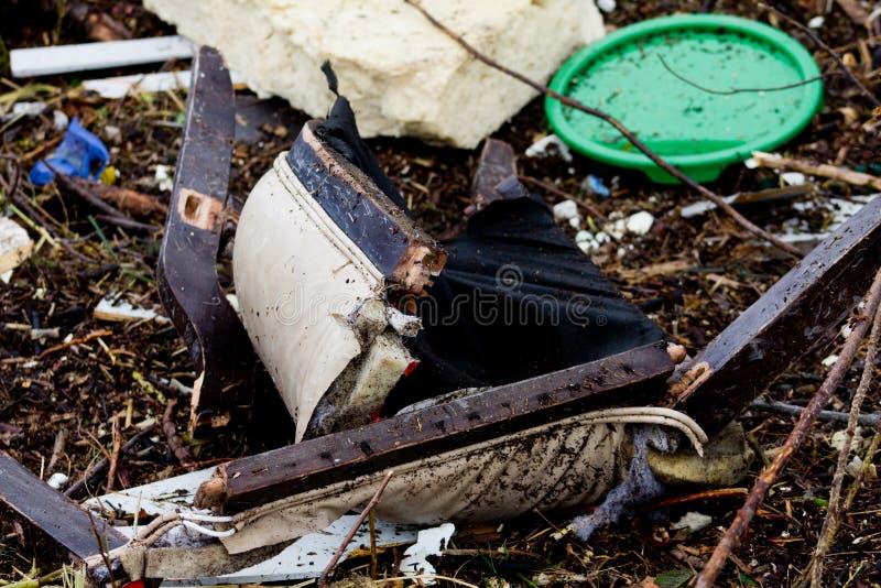 Restos do furacão Sandy fotos de stock royalty free