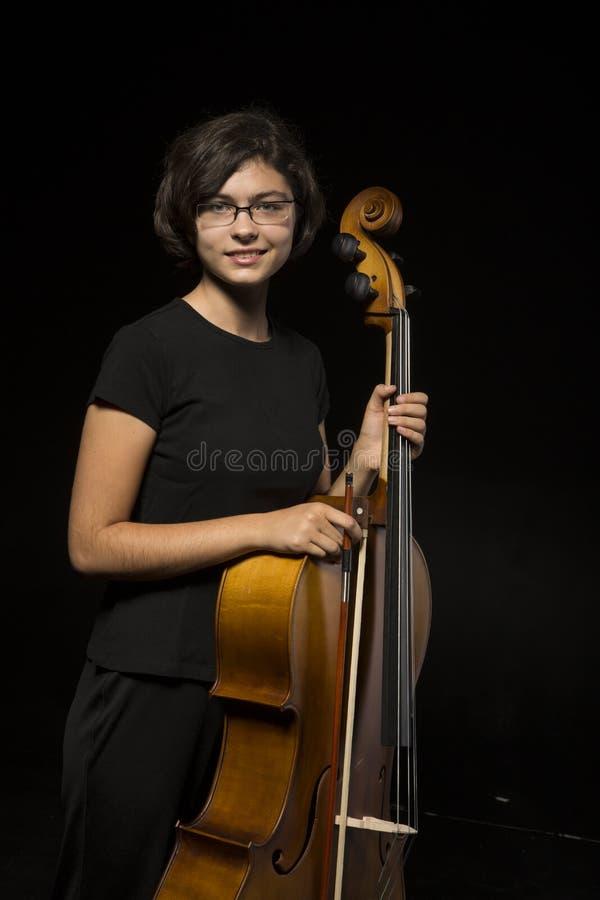 Restos Novos Do Violoncelista Fotografia de Stock