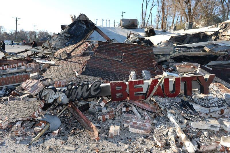 Restos que arden de la belleza primera Suppy en Ferguson fotografía de archivo