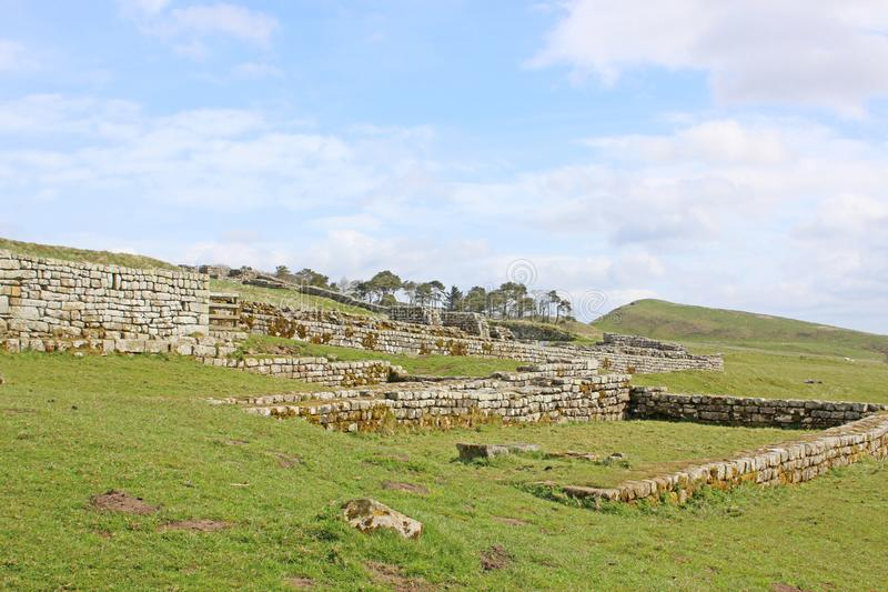 Restos romanos en Houseteads foto de archivo libre de regalías