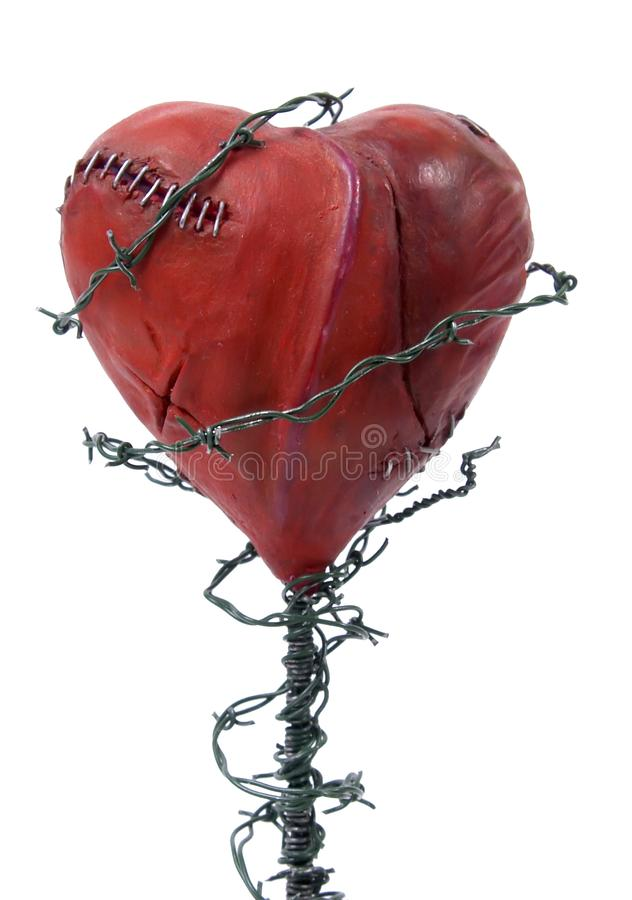 Restrained heart stock photography