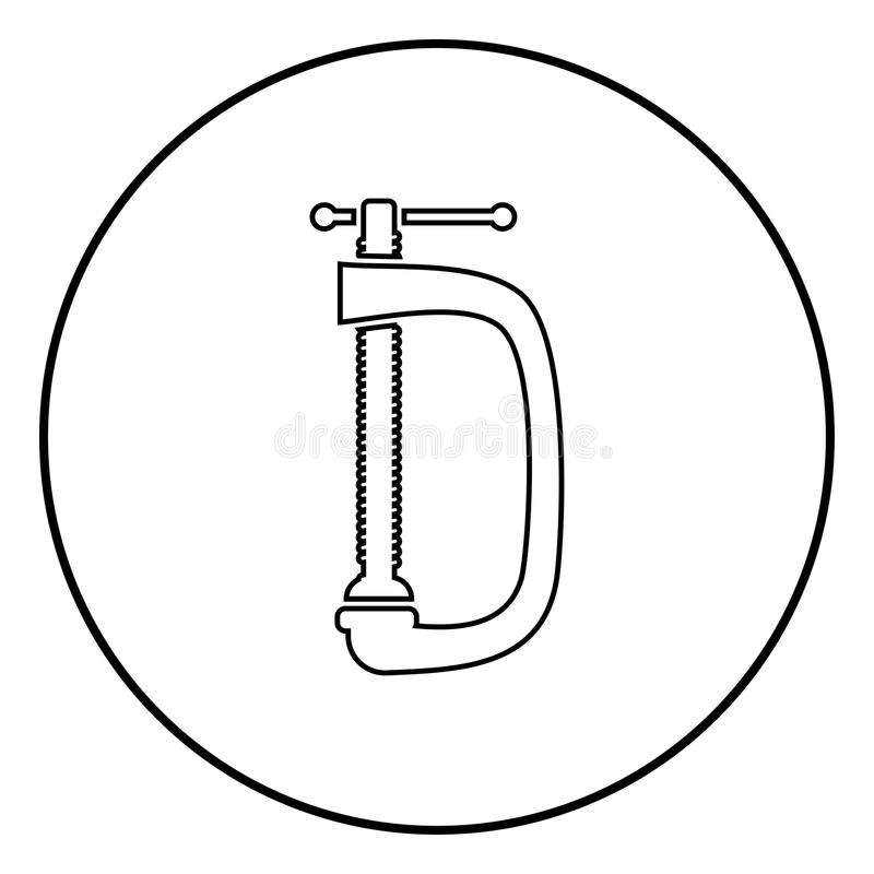 Restreignez l'image simple d'illustration de vecteur de couleur de noir d'icône de vis-bride illustration de vecteur
