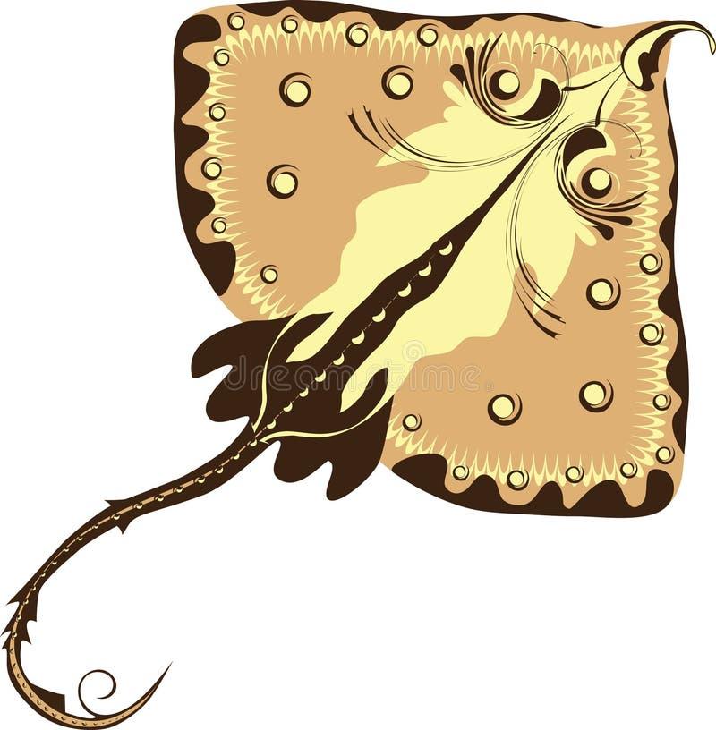 Restreindre-poissons, raie électrique stylisé illustration de vecteur