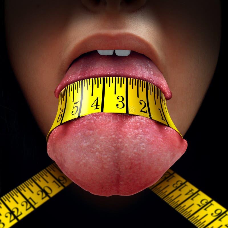 Restricción de la caloría stock de ilustración