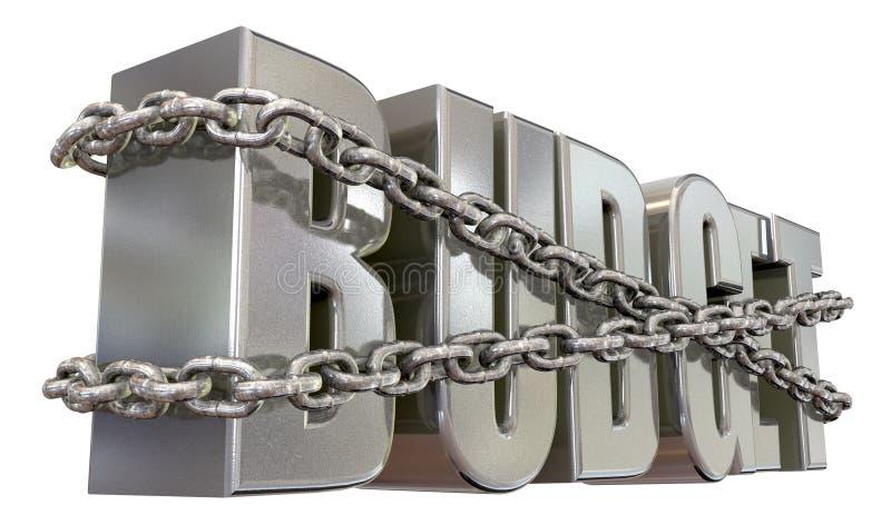 Restricciones y encadenamientos del presupuesto fotografía de archivo libre de regalías