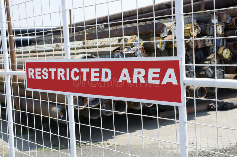 Download Restricted Area stock image. Image of entrance, activity - 20577095