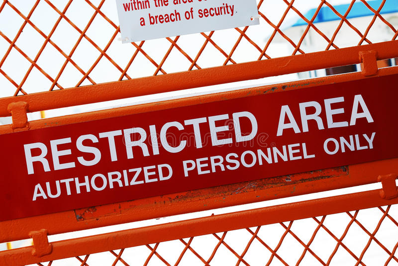 Download Restricted area stock image. Image of post, prosecuted - 28868065