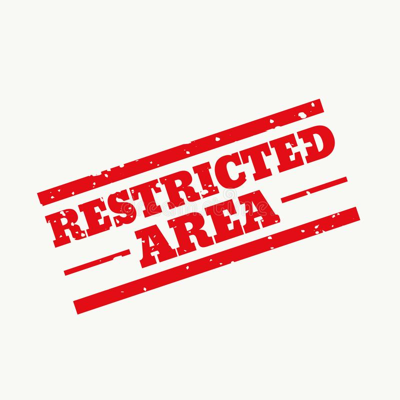 Restricted area rubber stamp sign design. Illustration vector illustration