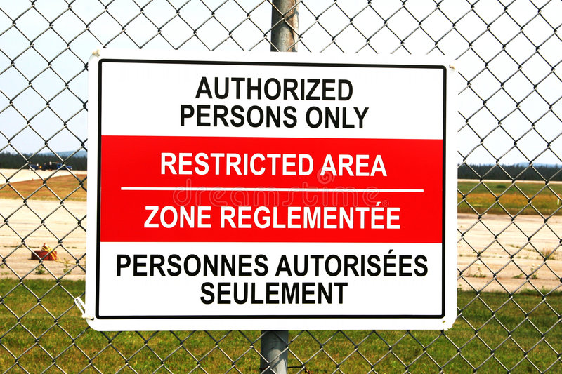 Download Restricted Area Sign stock photo. Image of persons, objects - 176578