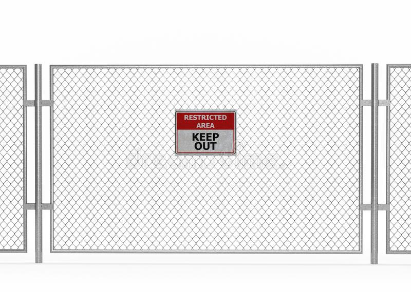 Restricted area. On white background royalty free illustration