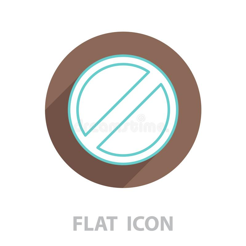 Restricted line icon, vector. Design royalty free illustration