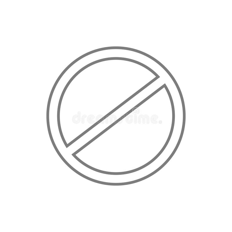 restricted, vector design site icon. Element of cyber security for mobile concept and web apps icon. Thin line icon for website royalty free illustration