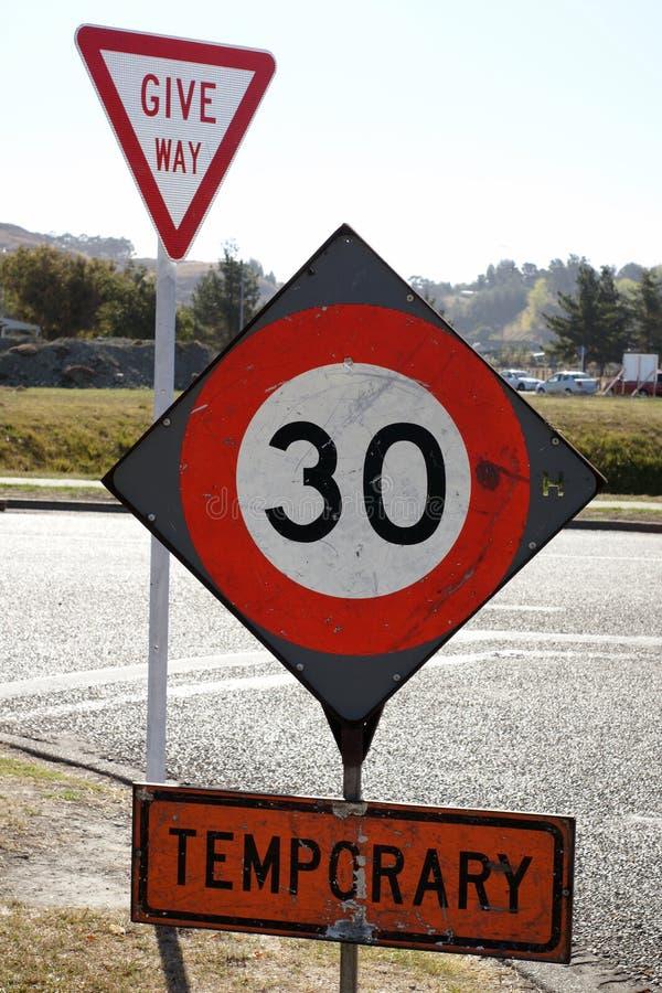 Restriction provisoire de vitesse image libre de droits