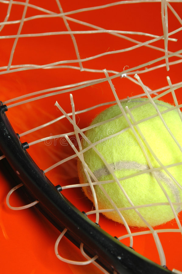 restring的网球 库存图片