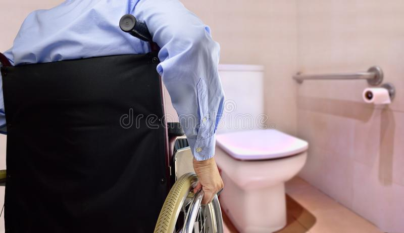 Restroom for disability person stock photography